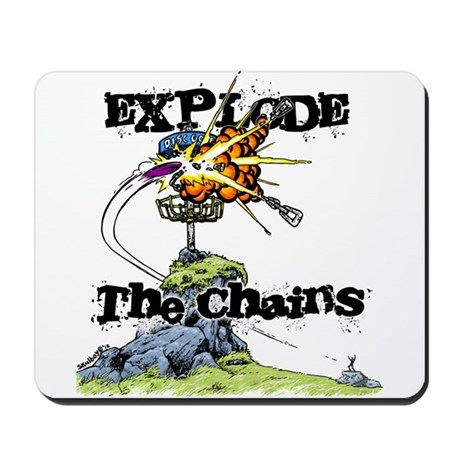 Disc Golf EXPLODE THE CHAINS Mousepad