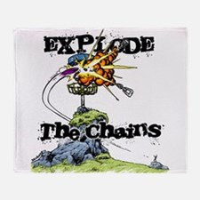 Disc Golf EXPLODE THE CHAINS Throw Blanket