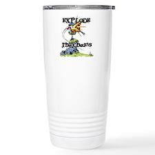 Disc Golf EXPLODE THE CHAINS Travel Mug
