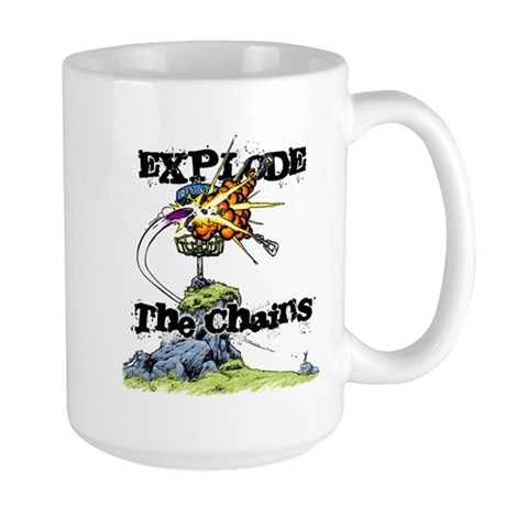 Disc Golf EXPLODE THE CHAINS Large Mug