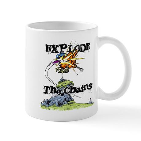 Disc Golf EXPLODE THE CHAINS Mug