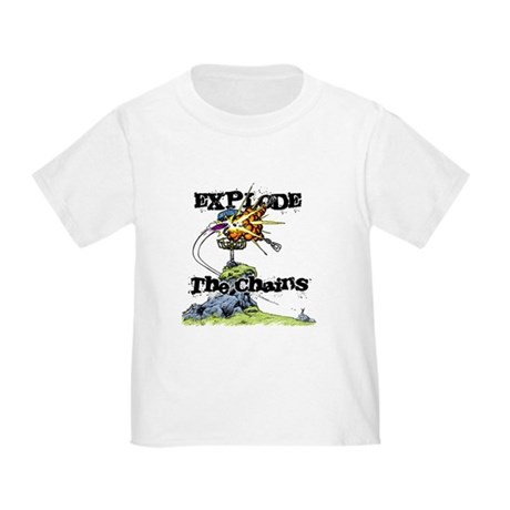Disc Golf EXPLODE THE CHAINS Toddler T-Shirt