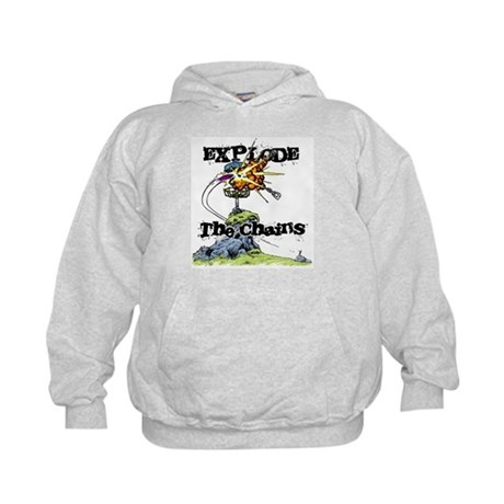 Disc Golf EXPLODE THE CHAINS Kids Hoodie