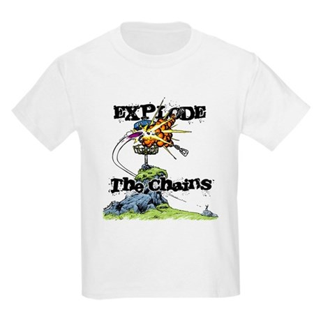 Disc Golf EXPLODE THE CHAINS Kids Light T-Shirt