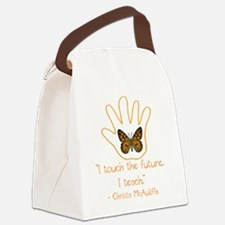 I Touch The Future. I Teach. Canvas Lunch Bag