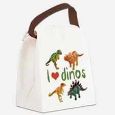 I Love Dinos Canvas Lunch Bag