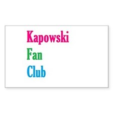 Kapowski Fan Club Decal