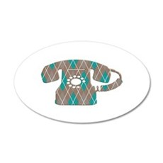 Vintage Telephone 35x21 Oval Wall Decal