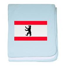 Berlin Flag baby blanket