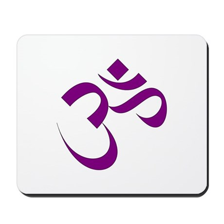 The Purple Aum/Om Mousepad