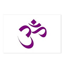 The Purple Aum/Om Postcards (Package of 8)