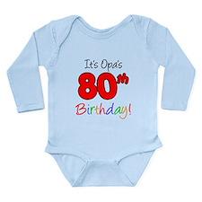 Opa 80th Birthday Long Sleeve Infant Bodysuit