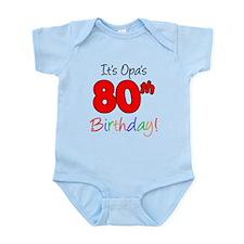 Opa 80th Birthday Infant Bodysuit