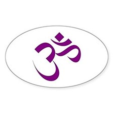 The Purple Aum/Om Oval Decal