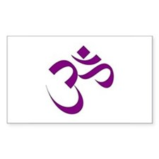 The Purple Aum/Om Rectangle Decal