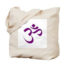 The Purple Aum/Om Tote Bag