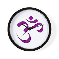 The Purple Aum/Om Wall Clock