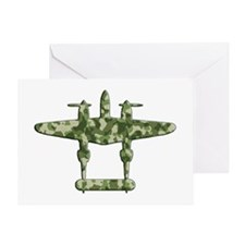Lockheed P-38 Lightning camouflage Greeting Card
