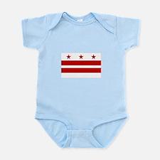 District of Columbia Flag Infant Bodysuit
