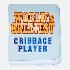 World's Greatest Cribbage Player baby blanket
