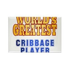 World's Greatest Cribbage Player Rectangle Magnet