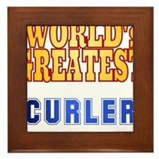 World's Greatest Curler Framed Tile