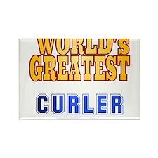 World's Greatest Curler Rectangle Magnet