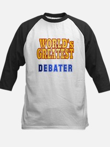 World's Greatest Debater Kids Baseball Jersey