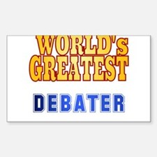 World's Greatest Debater Decal