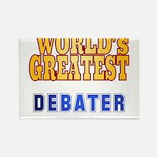 World's Greatest Debater Rectangle Magnet