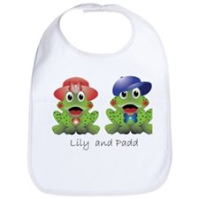 "Frogs ""Lily and Padd"" Bib"