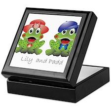 """Frogs """"Lily and Padd"""" Keepsake Box"""