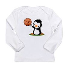 Basketball Penguin Long Sleeve Infant T-Shirt