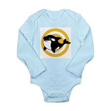 Cute Whale Long Sleeve Infant Bodysuit