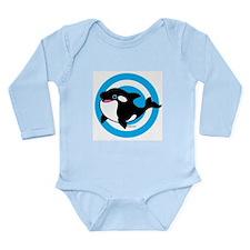 Cute Whale Long Sleeve Infant Bodysuit