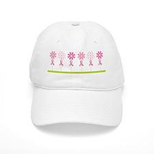 Breast Cancer Awareness Flowers Cap