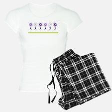 Alzheimers Purple Ribbon Flower Pajamas