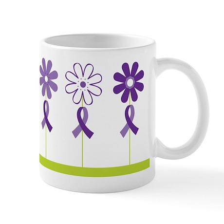 Alzheimers Purple Ribbon Flower Mug