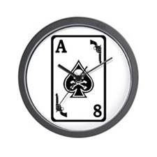 ST-8 Ace of Spades Wall Clock
