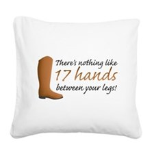 17 Hands Square Canvas Pillow