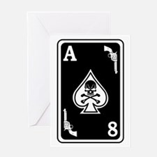 ST-8 Ace of Spades Greeting Card