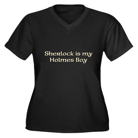 Sherlock Women's Plus Size V-Neck Dark T-Shirt