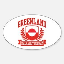 Greenland Sticker (Oval)