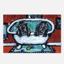 FIELD SPANIEL bath Postcards (Package of 8)
