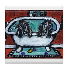 FIELD SPANIEL bath Tile Coaster