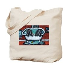 FIELD SPANIEL bath Tote Bag