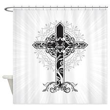 Beautiful Cross Shower Curtain