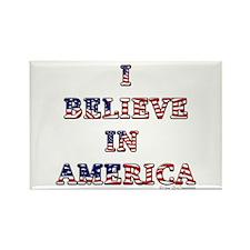 I Believe in America Rectangle Magnet