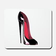 Black Stiletto Shoe Art Mousepad