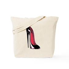 Black Stiletto Shoe Art Tote Bag